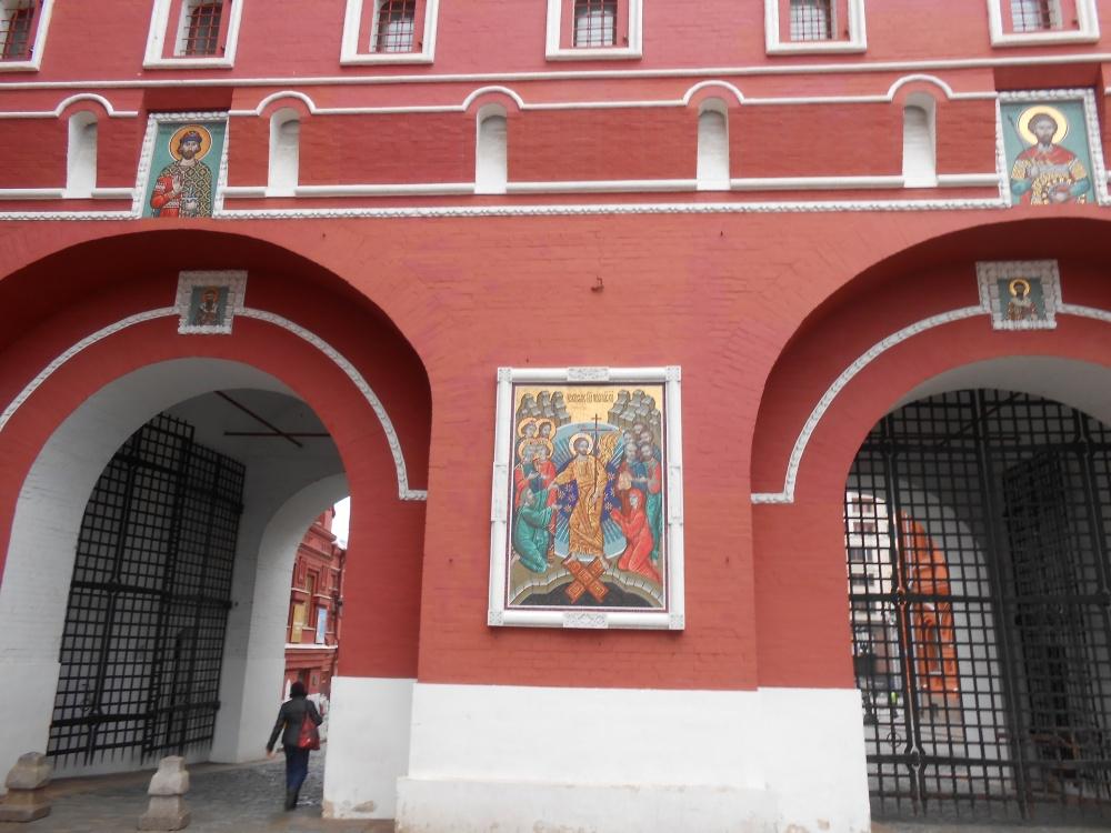 レーニン廟近くのロシア正教教会入り口