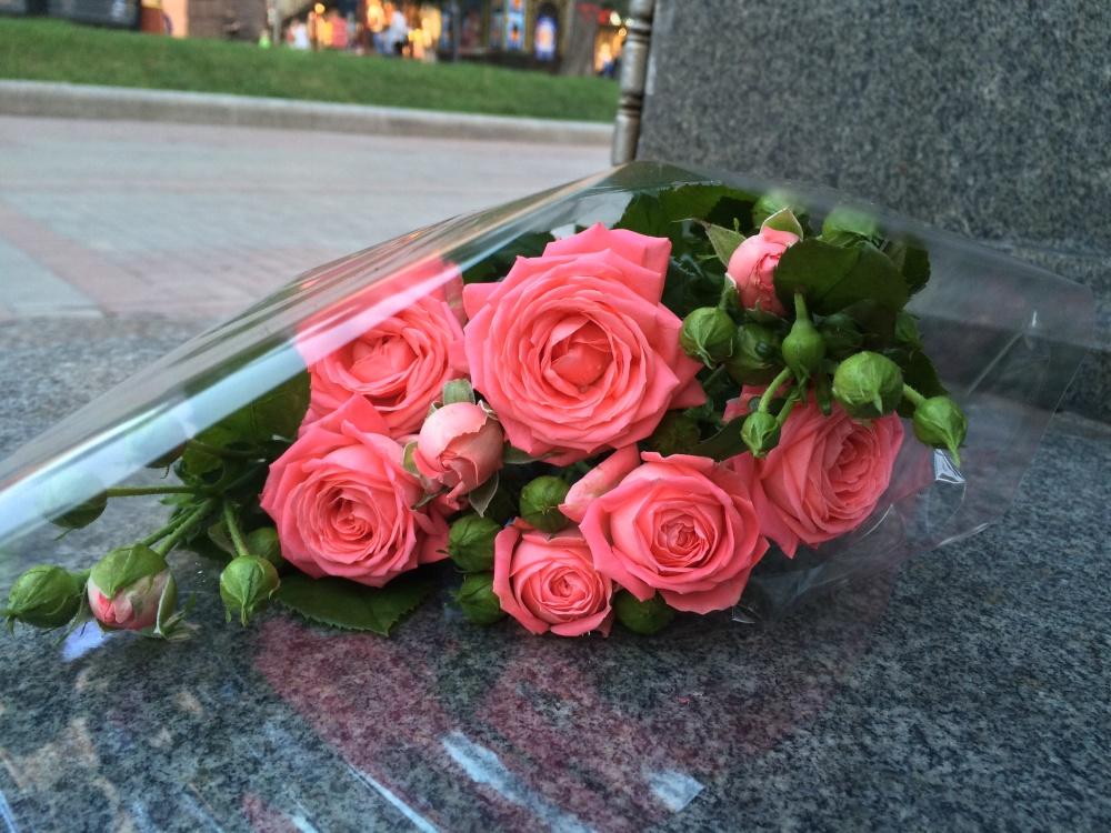 キエフで薔薇花束